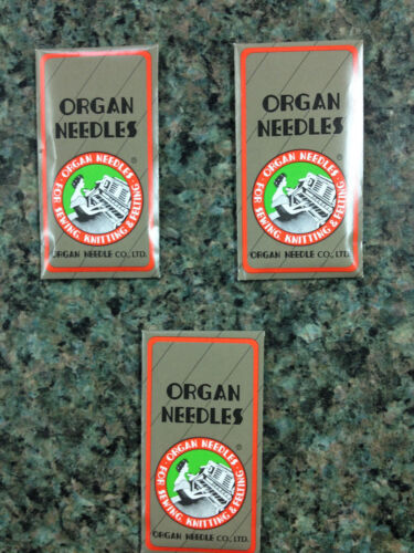 3 PACKS of 10 30 ORGAN TITANIUM NEEDLES 15X1 130//705H Best for Embroidery