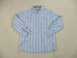 Tommy Bahama Button Up Shirt Adult Large Blue Red Long Sleeve Casual Mens A38