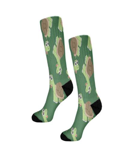 Turtles Fun Crazy Cool Novelty 11 Inch Men Women Socks