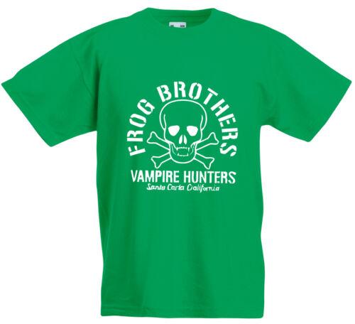 FROG FRATELLI cacciatori di vampiri I RAGAZZI PERDUTI ispirato Bambini T-Shirt Stampata Nuova