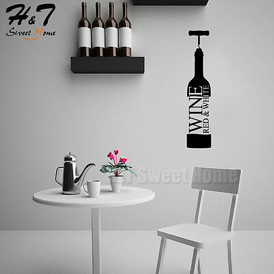Red/&White Wine Words Letter Bar Vinyl Wall Sticker Decal Art Kitchen Dining Room
