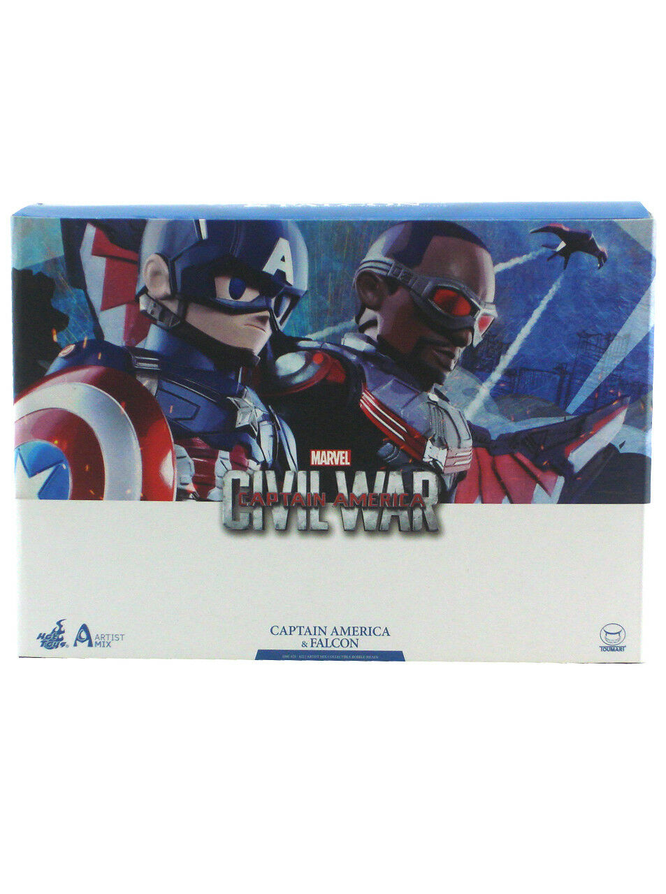 Hot Toys Captain America & Falcon Artist Mix Collectible Set Civil War New