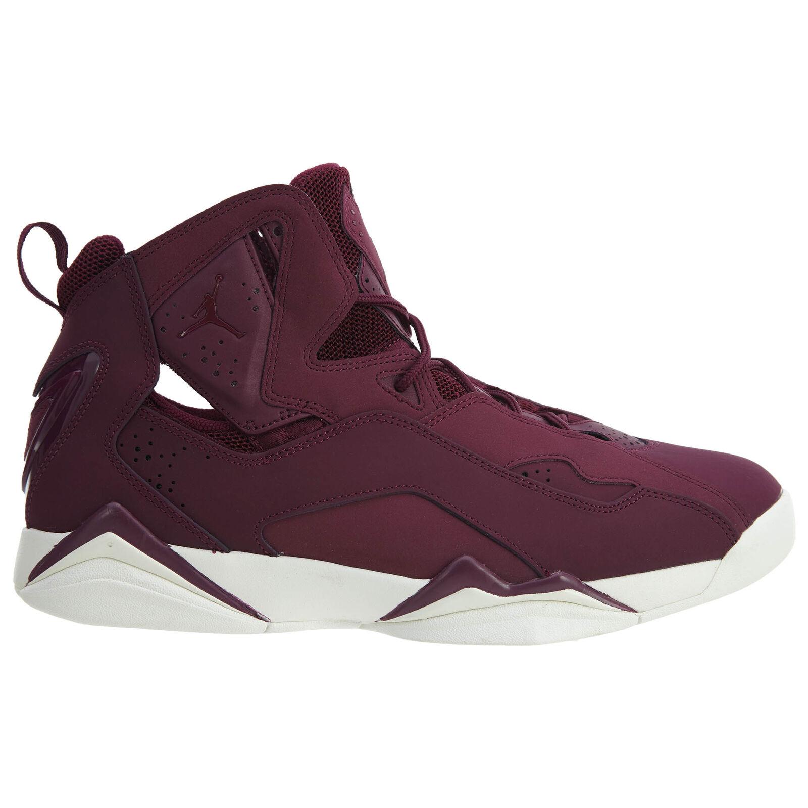 Jordan True Flight Mens 342964-625 Bordeaux Nubuck Basketball Shoes Size 8.5