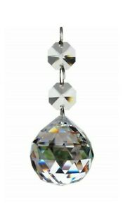 1 Clear Faceted Chandelier Crystal Ball Ornament 20mm ...