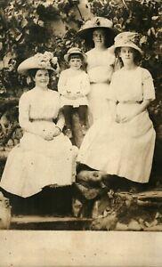 Antique (c.1910) Ladies at Council Crest, Portland, Oregon Real Photo Postcard