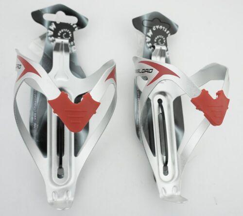 2x Fahrrad Flaschenhalter Massload Alu silber für MTB Rennrad