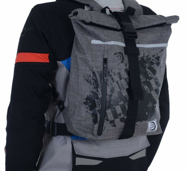 a6631630a5a9 R&G Grey Roll Top Waterproof Bag / Backpack 13l Cycle Motorcycle