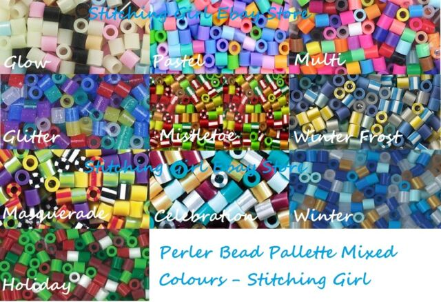 In Stock ~ Perler Mixed Colour Bead Packs ~ 1000/Pkg ~ 10 Choices