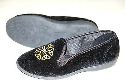 Clarks K Marsha Grace Nero Ladies Slippers Taglie 3 - 8 D-