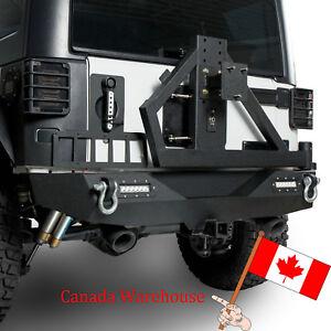 Rock Crawler Steel Rear Bumper with Tire Carrier for Jeep Wrangler JK 2007-2018