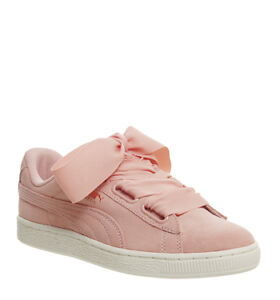 Image is loading Womens-Puma-Suede-Heart-Trainers-CORAL-CLOUD-Trainers-