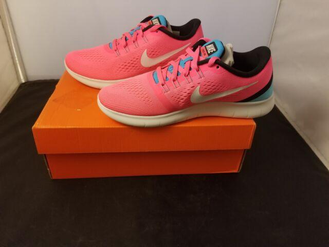 b7c9da29e512 NIB Nike Size 6 Womens Free Run Racer Pink   White Bright Running Shoes  831509