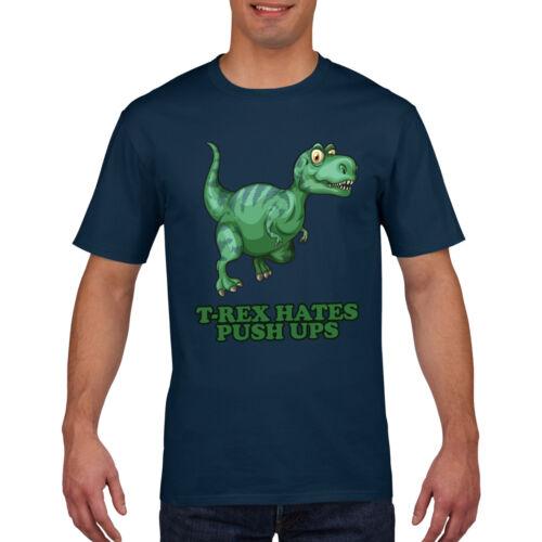 T Rex Hates Push Ups Funny Dinosaur T Shirt Mens Womens Kids Tshirt Top Tee 755