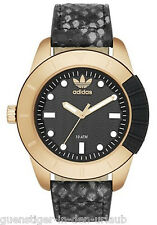 Adidas Herren Armbanduhr Uhr schwarz-gold NEU