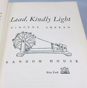 Vintage-1949-HC-Book-Lead-Kindly-Light-Gandai-by-Vincent-Sheean-1st-Printing