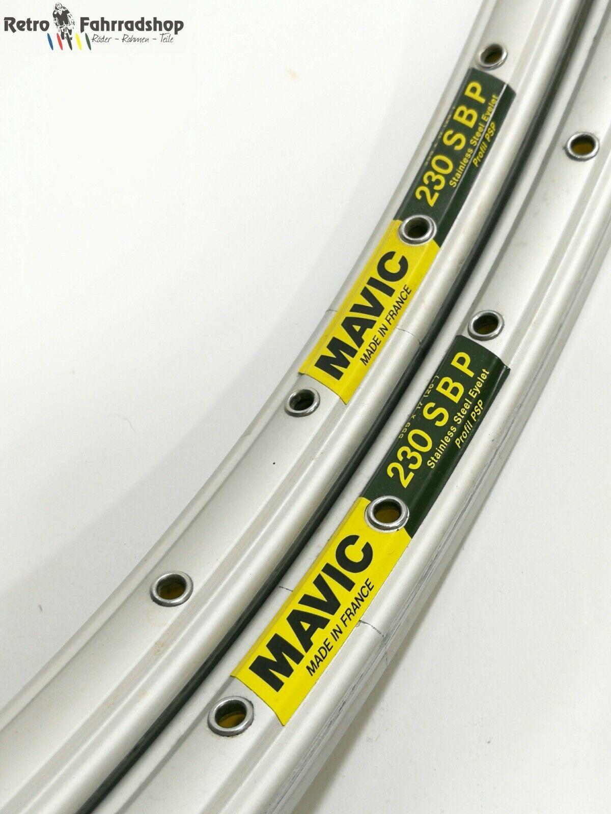 2Stk. Mavic 230 SBP MTB 36 Loch Felgen Stainless Steel Baujahr1993 94 NUR 405g