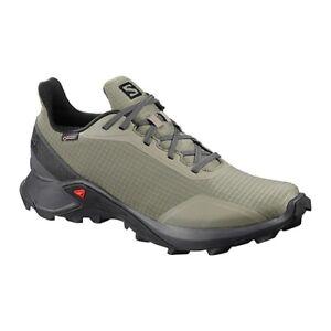 Detalles de Salomon para hombre Alphacross GTX Trail Running Castor Gris  Zapatos pn: L40805500- ver título original