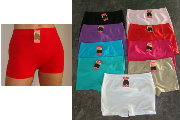 5er 3er Donna Hipster Nylon Unterwäsche Hotpants Boxershorts Gross 6028 gr 38/40