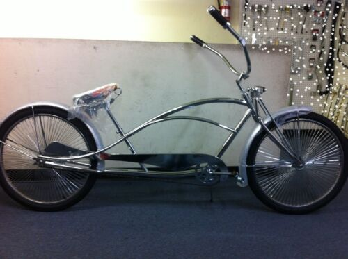 "CHROME 26/"" LIMO STRETCH BEACH CRUISER BIKE W//144 SPOKES COASTER BRAKE!"