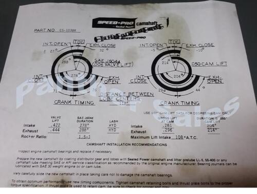 Pontiac 326 350 389 400 421 428 455 RV Torque Camshaft Lifters Timing Kit