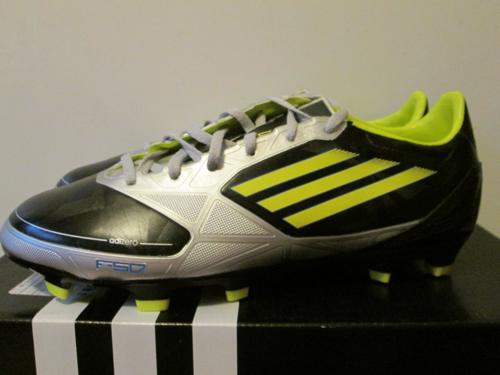 Adidas Adizero F30 TRX FG Black Lime/Silver Lightweight Soccer Cleats 7.5 NEW