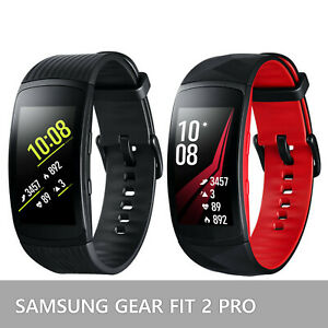 Samsung-Galaxy-Gear-Fit-2-Pro-Fitness-Tracker-SM-R365-Smartwatch-Black-and-Red