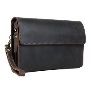 Vintage-Men-039-s-Real-Leather-Wallet-Notecase-Travel-Shopping-Clutch-Handbag-Purse