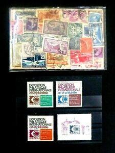 FRANCE-Anciens-Lot-de-290-timbres-differents-obliteres-Belle-cote