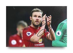 Juan-Mata-Signed-6x4-Photo-Manchester-United-Genuine-Autograph-Memorabilia-COA