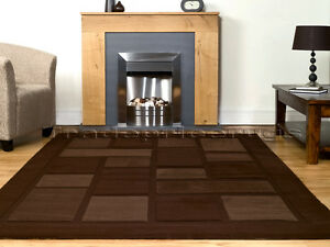MEDIUM-TO-EXTRA-LARGE-THICK-DARK-CHOCOLATE-BROWN-SWIRL-MODERN-CONTEMPORARY-RUG