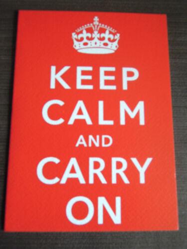 Qualité keep calm and carry sur carte de vœux joyeux anniversaire//blank toute occasion