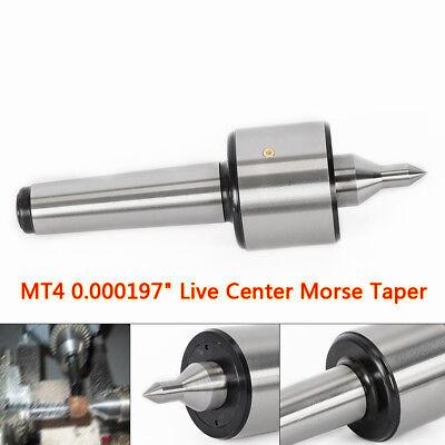 "MT4 0.000197/"" Live Center Morse Taper 4MT Triple Bearing Lathe Medium Duty CNC"