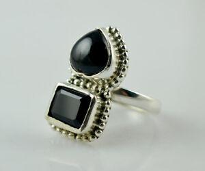 Black-Onyx-Ring-925-Sterling-Silver-Handmade-Jewelry-US-BON-016