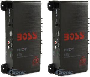 NEW BOSS R1002 200W 2-Channel RIOT Car Audio High Power Amplifier Amp 200 Watts