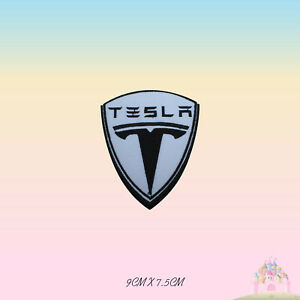 Tesla-Car-Brand-Logo-Embroidered-Iron-On-Patch-Sew-On-Badge-Applique