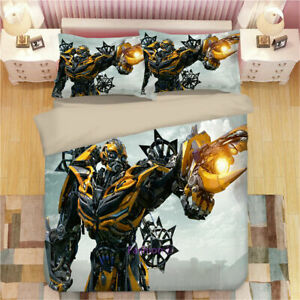 Transformer-Bumblebee-Bedding-Set-Duvet-Quilt-Cover-Pillowcase-Comforter-3PCS