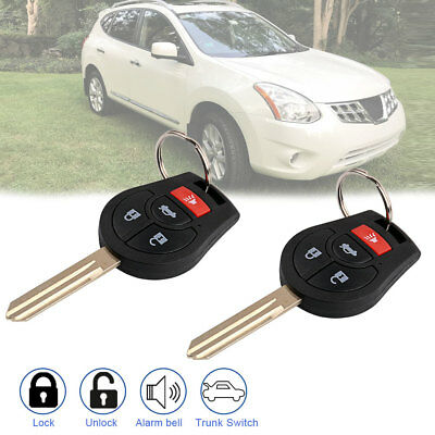 2 For 2008 2009 2010 2011 2012 2013 2014 2015 2016 2017 Nissan Rogue Remote Key