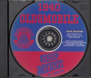 image is loading 1940-oldsmobile-shop-manual-on-cd-40-olds-