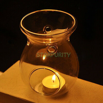 Glass Candlestick Candle Holder Scented Oil Warmer Burner Stove Wedding Party
