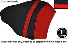 RED & BLACK VINYL CUSTOM FITS DUCATI 848 1098 1198 REAR PILLION SEAT COVER ONLY