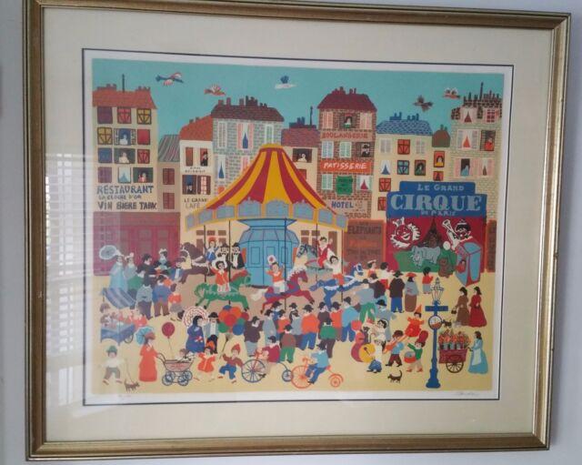 "Claudine (Romanian, b. 1938) ""Park d' Amusement"" Serigraph Artist Proof"
