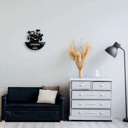 Garfield and Odie TV Vinyl Record Wall Clock Kids Birthday Gift Art Room Decor