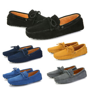 Mens-Suede-Loafers-Driving-Moccasins-Casual-Soft-Penny-Shoes-Comfortable-Flats