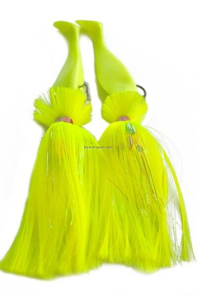 NEW bluee Water Candy Tandem 12 oz 8 oz Loaded Parachute Rig Chartreuse 60102