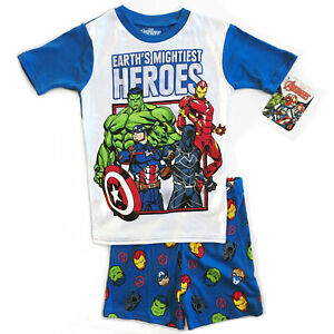 Marvel/'s Avengers Captain America Boys PJ Pajamas Hoodie Size 10//12 Official New
