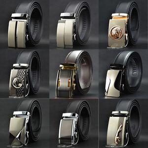 Whole-Sale-Mens-Automatic-Buckle-Genuine-Leather-Formal-POP-Waist-Strap-Belts