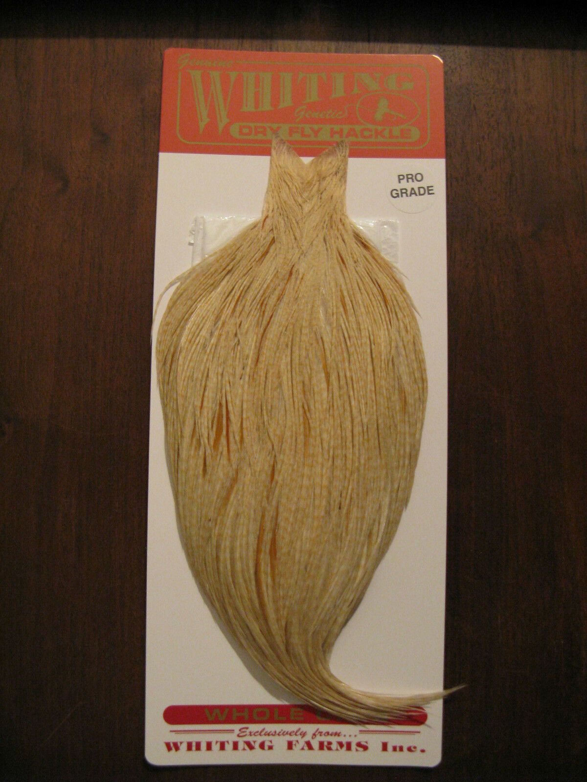 Fly Tying Whiting Pro Rooster Cape Barrosso Medium Ginger Ginger Ginger  F 49499a