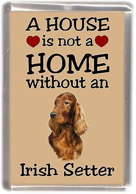 """Irish Setter Dog Fridge Magnet """"A HOUSE IS NOT A HOME"""" by Starprint"""