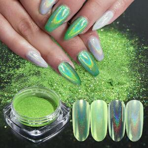 1G-Light-Green-Holographic-Glitter-Nail-Powder-Dust-Chrome-Pigment-Decoration