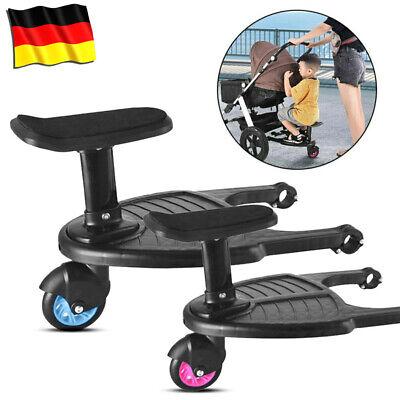 Universal Buggy Board Kiddy Board Trittbrett mit Sitz für Kinderwagen Rollbrett